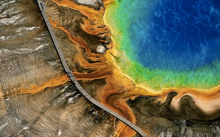Earth From Above Yellowstone Yann Arthus Bertrand Destination Deluxe