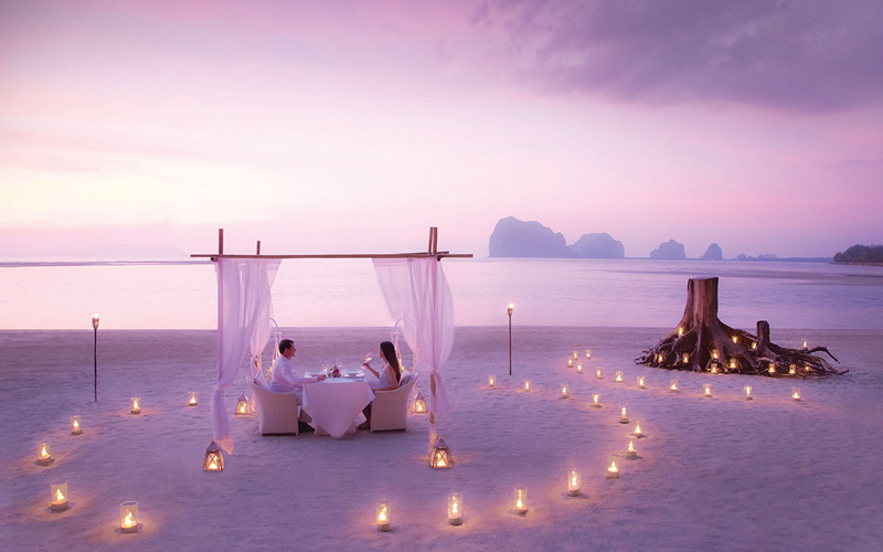 Anantara Krabi Romantic Dinner Beach Destination Deluxe