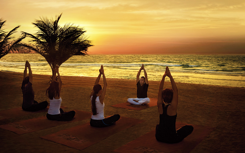 Sunset Yoga Dubai Talise Spa - Destination Deluxe
