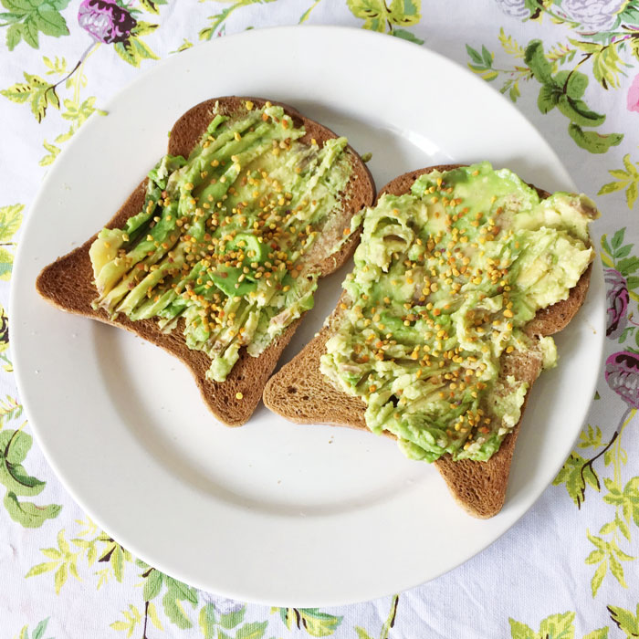 Avocado Toast Bee Pollen - Destination Deluxe
