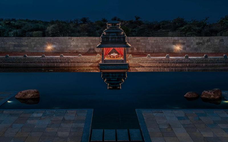 Kamalapura Palace Hampi Outdoor Dining - Destination Deluxe