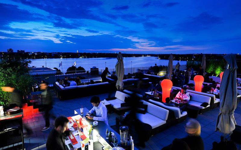 The George Hotel Hamburg Rooftop Terrace - Destination Deluxe