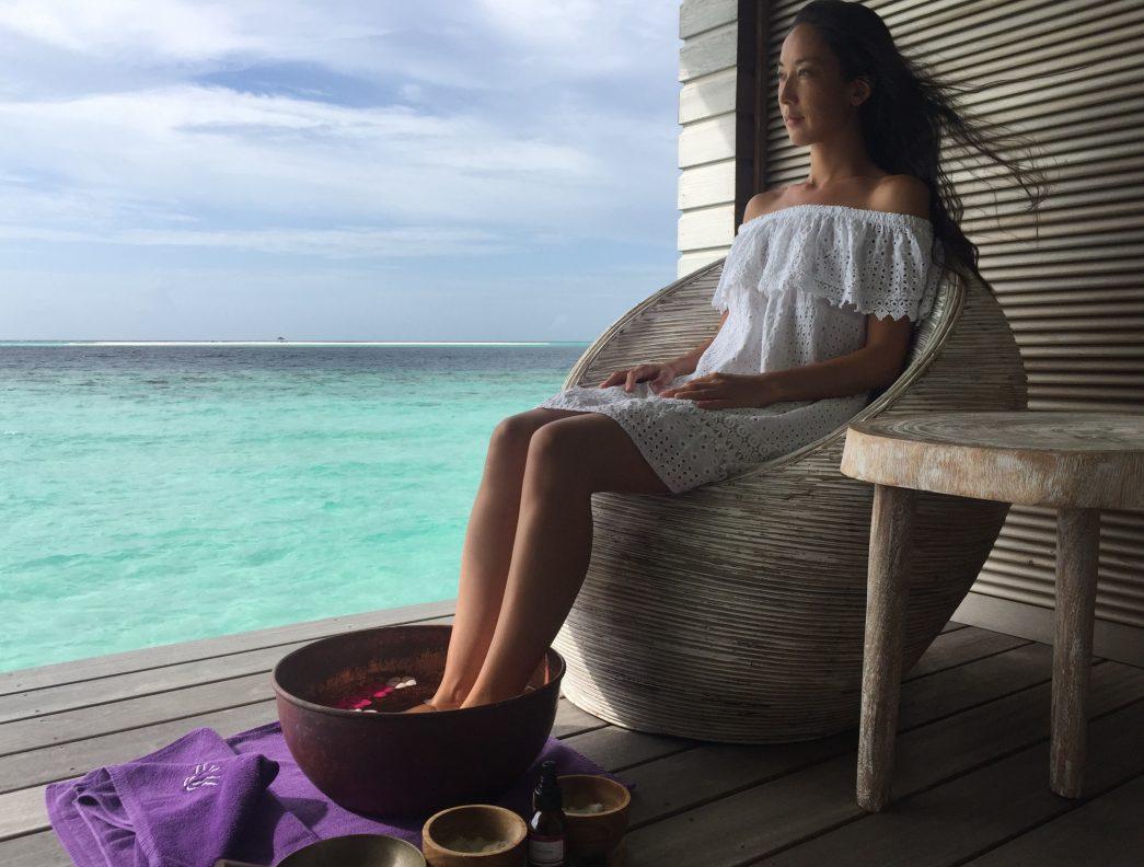 Vivienne Tang at Duniye Spa at Hurawalhi Maldives - Destination Deluxe