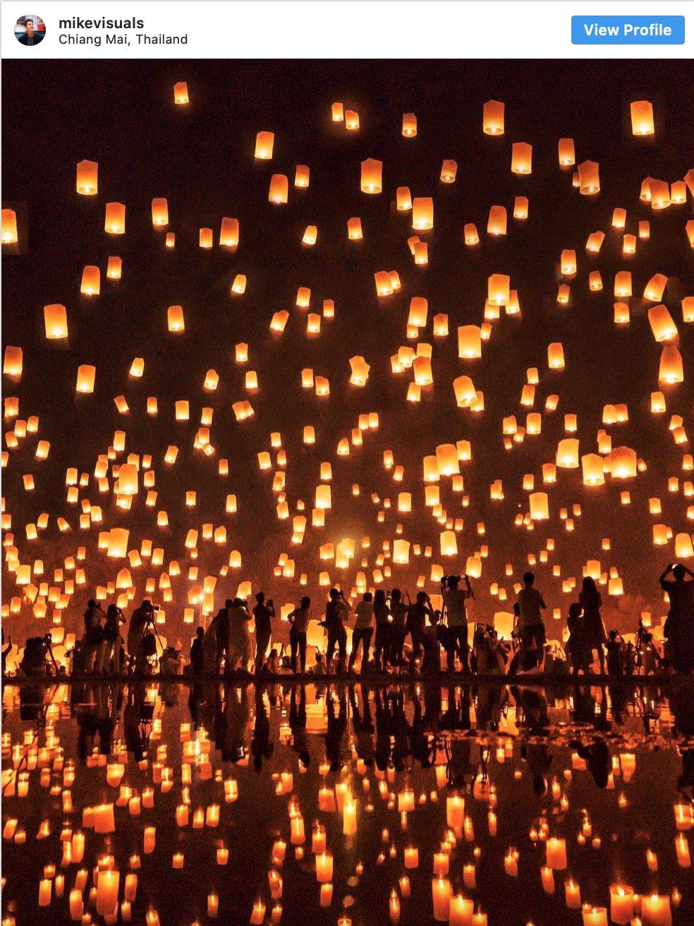 Instagram Spots Lantern Festival Chiang Mai - Destination Deluxe