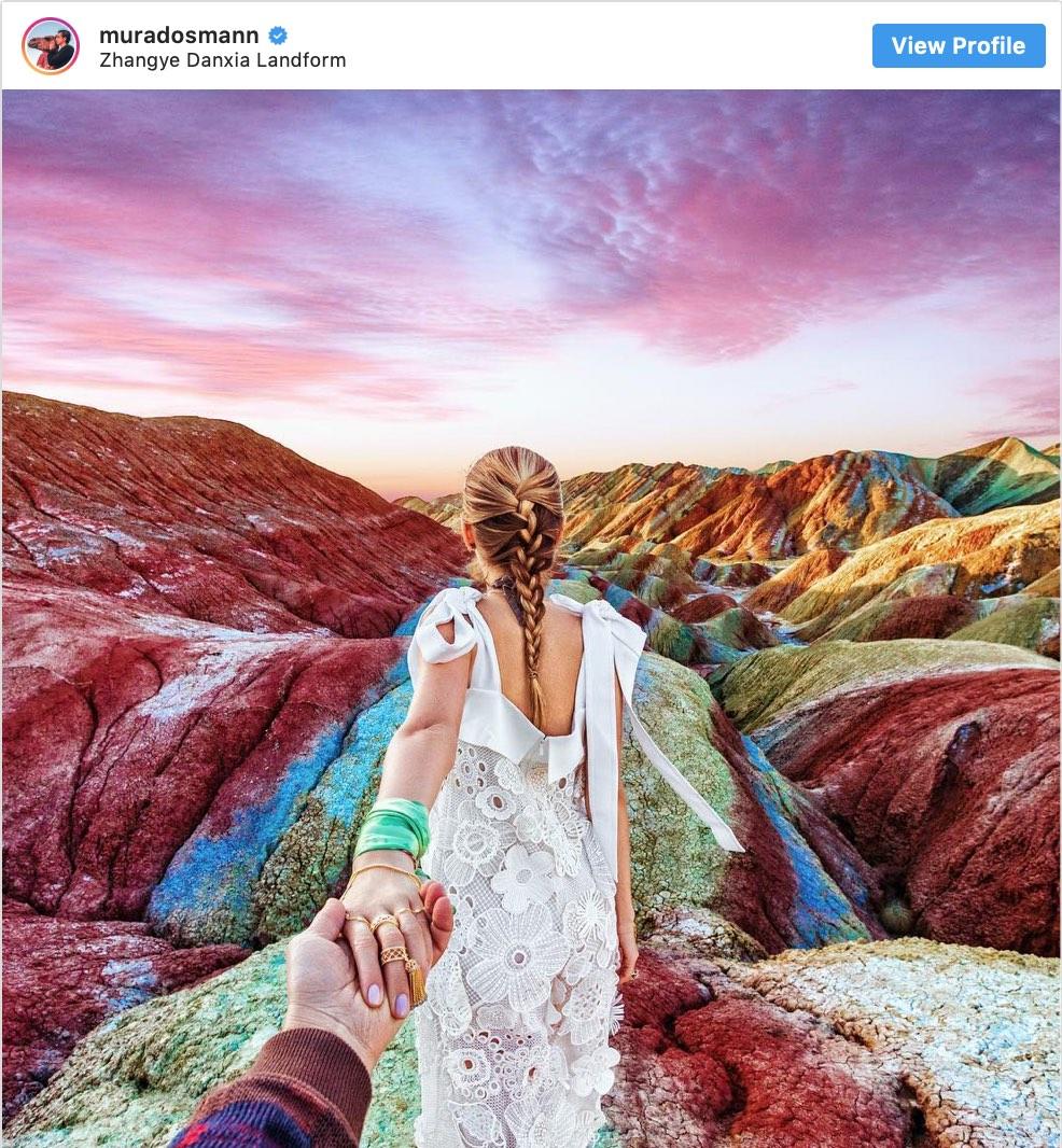 Instagram Spots Murad Osman Zhangye Danxia - Destination Deluxe