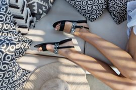 Alasia Lifestyle x MISCHA sandals campaign shot - Destination Deluxe