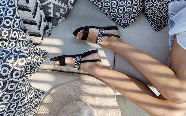 Alasia Lifestyle x MISCHA sandals campaign shot - Destination Deluxe