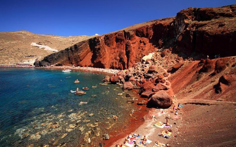 Kokkini Red Beach Santorini - Destination Deluxe