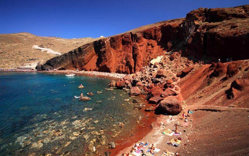 Kokkini Red Beach Santorini - Destination Deluxe