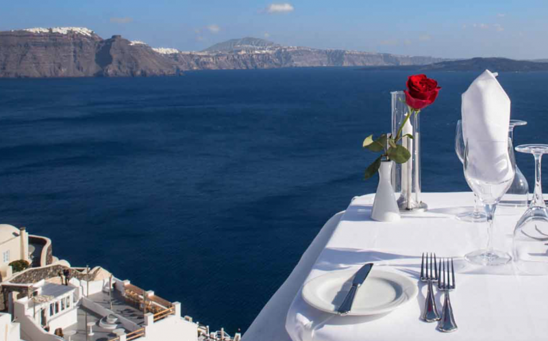 Restaurant Ambrosia Santorini Romantic Dinner - Destination Deluxe