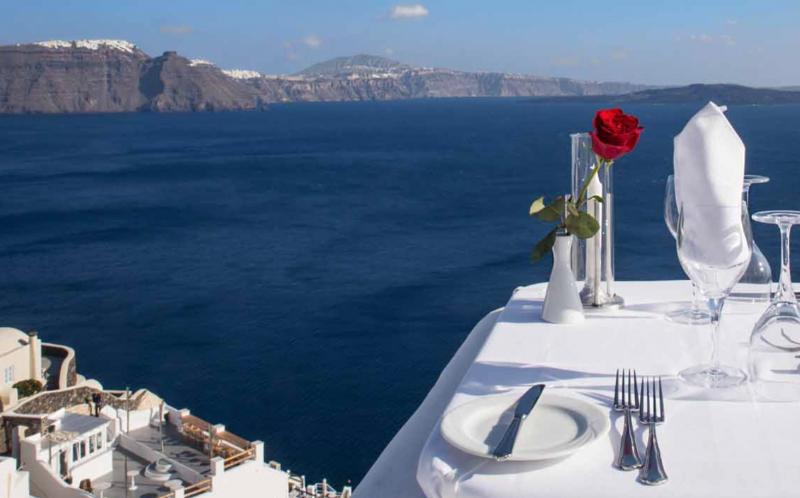 Restaurant Ambrosia Santorini Romantic Dinner - Destination Deluxe