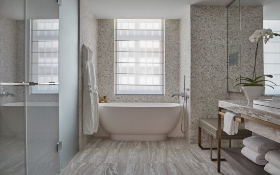 Four Seasons New York Downtown Bathroom - Destination Deluxe
