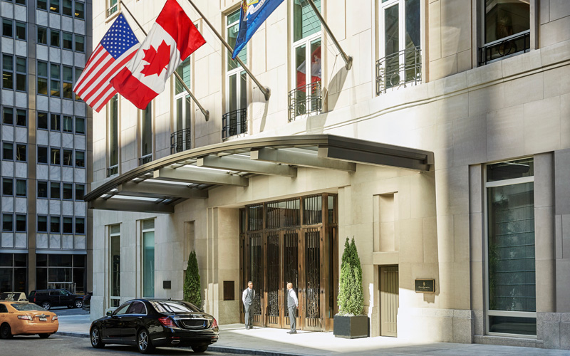 Four Seasons New York Downtown Entrance - Destination Deluxe