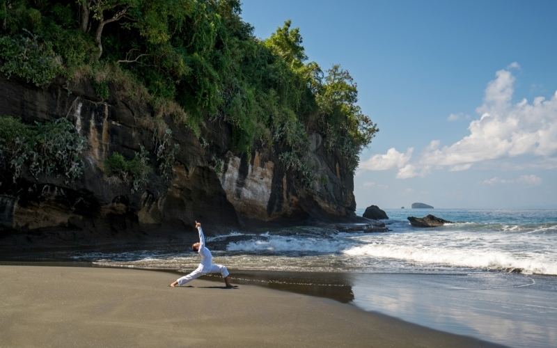 Amankila Beach Yoga - Destination Deluxe