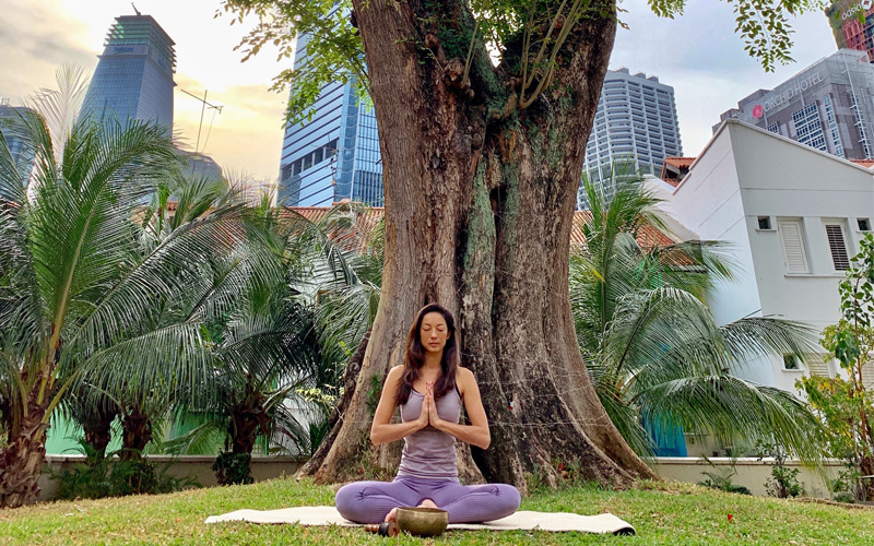 Vivienne Tang Yoga Meditation at Six Senses Singapore - Destination Deluxe