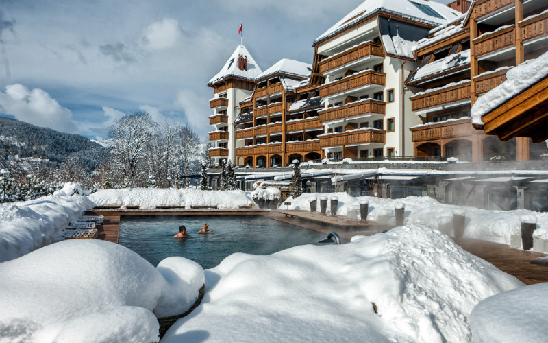 The Alpina Gstaad Heated Pool - Destination Deluxe