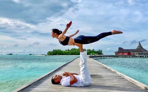 Acro Yoga Anantara Veli Maldives - Destination Deluxe