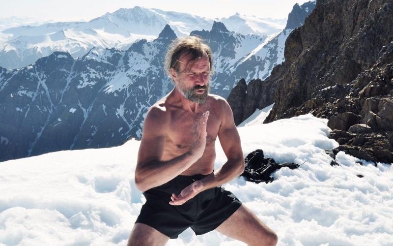 Wim Hof Method The Iceman in the snow - Destintion Deluxe