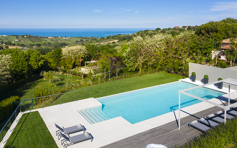 Pool at Villa Olivo / Photo: Courtesy of Oliveto Estate