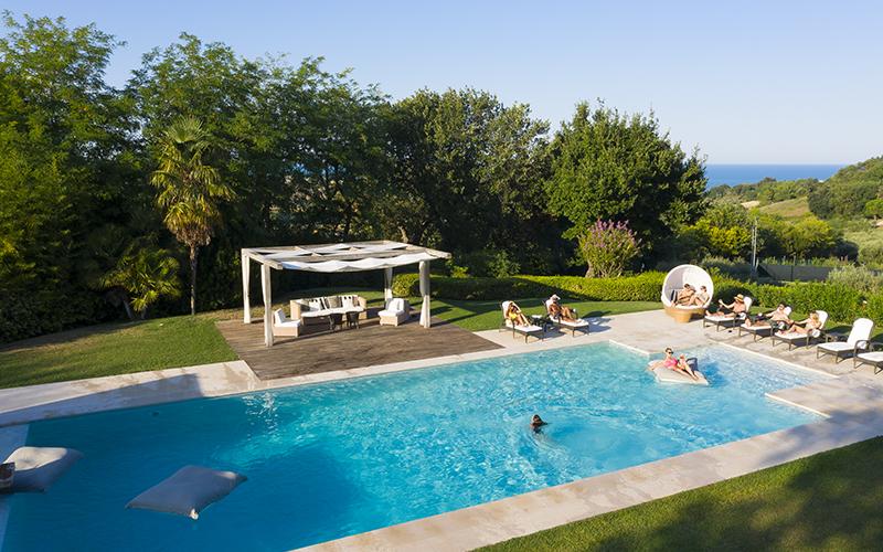 Oliveto Estate Pool Goals - Destination Deluxe