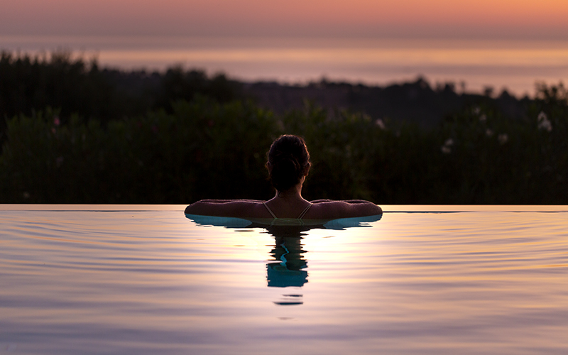 Oliveto Estate Sunset Pool - Destination Deluxe