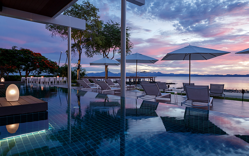 Banwa Private Island Beach Sunset - Destination Deluxe