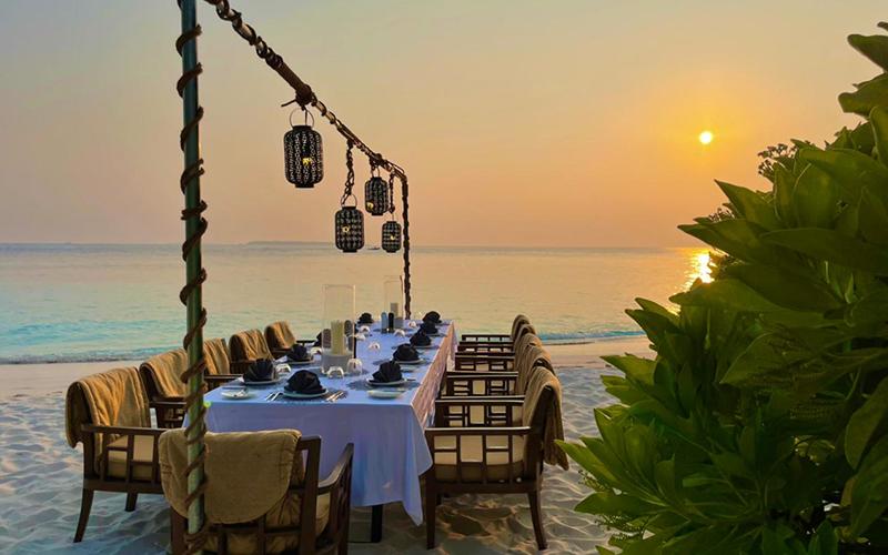 Amilla Maldives Sunset Dinner - Destination Deluxe
