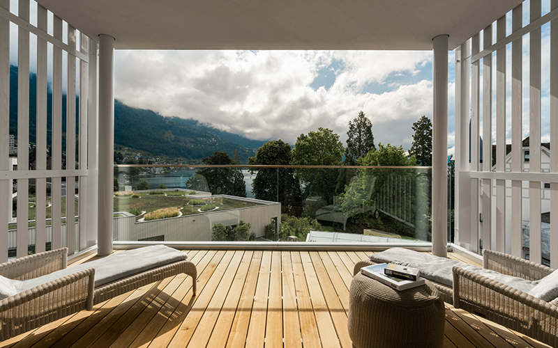 Wellness Retreat Switzerland Chenot Palace Weggis_Suite Balcony - Destination Deluxe